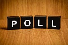 Palavra da votação no bloco preto Fotos de Stock Royalty Free