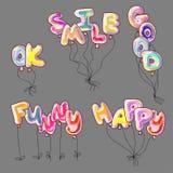 Palavra dada forma dos balões Fotografia de Stock Royalty Free