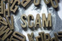 Palavra de Scam foto de stock royalty free