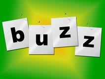 A palavra de zumbido indica relações públicas e publicidade ilustração do vetor