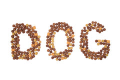 Palavra do alimento para cães Imagens de Stock