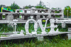 Palavra do amor Imagens de Stock
