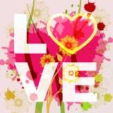 A palavra do amor indica a afeição compassivo e amou-a ilustração royalty free
