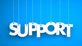 Palavra do apoio - pendurando na corda Foto de Stock Royalty Free