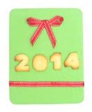 2014 - palavra do biscoito Fotos de Stock
