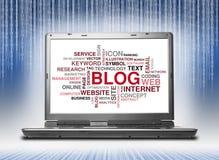Palavra do blogue ou nuvem da etiqueta Imagem de Stock