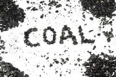 Palavra do carvão Fotos de Stock