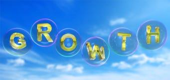 A palavra do crescimento na bolha ilustração royalty free