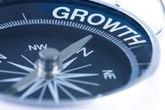 Palavra do crescimento no compasso Foto de Stock