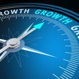 Palavra do crescimento no compasso ilustração stock