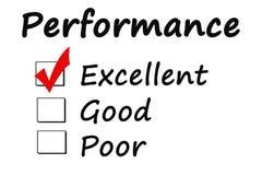 Palavra do desempenho no fundo branco fotografia de stock