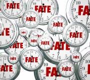 A palavra do destino cronometra o resultado de Destiny Time Moving Forward Destined com referência a ilustração stock