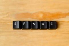 Palavra do espaço foto de stock