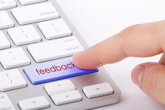 Palavra do feedback no teclado Imagens de Stock