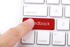 Palavra do feedback no teclado Fotos de Stock Royalty Free