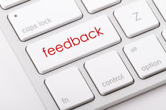Palavra do feedback no teclado Imagens de Stock Royalty Free
