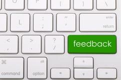 Palavra do feedback no teclado Fotografia de Stock