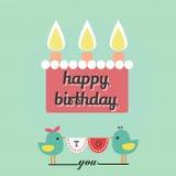 Palavra do feliz aniversario ilustração royalty free
