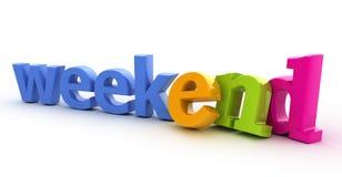 Palavra do fim de semana. Fotos de Stock