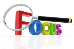 Palavra do foco Imagem de Stock