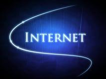 Palavra do Internet no fundo azul Ilustração Stock