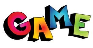palavra do jogo 3D isolada ilustração royalty free