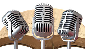 Palavra do mics do gospel do deus foto de stock
