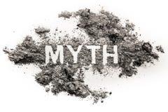Palavra do mito escrita na cinza ou na poeira imagem de stock royalty free