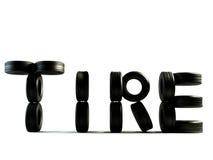 Palavra do pneumático Fotos de Stock Royalty Free