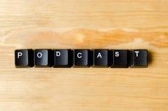 Palavra do Podcast foto de stock