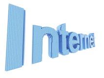 palavra do símbolo do Internet da arte do pixel 3d Fotos de Stock