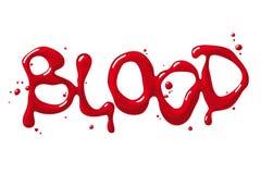 Palavra do sangue Imagens de Stock