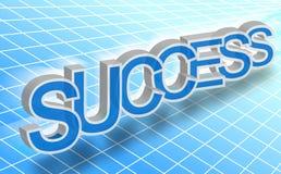 Palavra do sucesso Fotografia de Stock Royalty Free