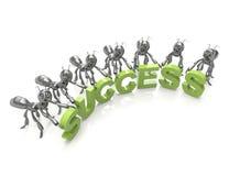 Palavra do sucesso 3d Fotos de Stock Royalty Free