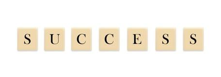 Palavra do sucesso no bloco Fotos de Stock Royalty Free