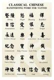 Palavra do tatuagem do chinês Imagem de Stock Royalty Free