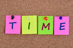 Palavra do tempo em notas Imagem de Stock Royalty Free