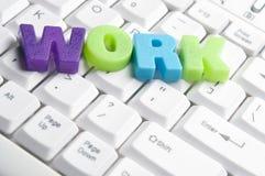Palavra do trabalho feita por letras coloridas Foto de Stock