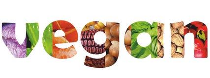 Palavra do vegetariano Imagens de Stock