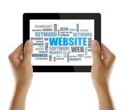 Palavra do Web site ou nuvem da etiqueta Imagens de Stock