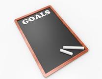 Palavra dos objetivos 3d no conceito do quadro Fotografia de Stock Royalty Free