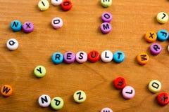 Palavra dos resultados Suceda o sucesso comercial, seja um vencedor nas eleições, votação do PNF ou os esportes testam, relatam,  Fotos de Stock Royalty Free