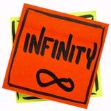 Palavra e símbolo da infinidade Foto de Stock Royalty Free