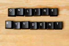 Palavra em linha do estudante Foto de Stock Royalty Free
