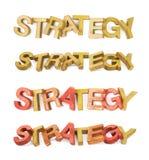 Palavra feita das letras de madeira isoladas Fotos de Stock Royalty Free