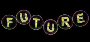 A palavra futura na bolha ilustração do vetor