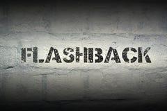 Palavra GR do flashback imagens de stock