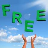 Palavra livre que cai no verde Fotografia de Stock