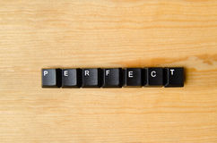 Palavra perfeita Imagem de Stock Royalty Free