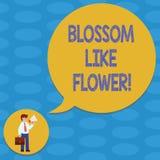 Palavra que escreve a flor do texto como a flor Conceito do negócio para a planta ou a árvore que formarão as sementes ou o homem ilustração do vetor